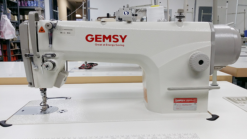 GEMSY GEM-8801-D1 Single Needle Sewing Machine with Auto Thread Trim