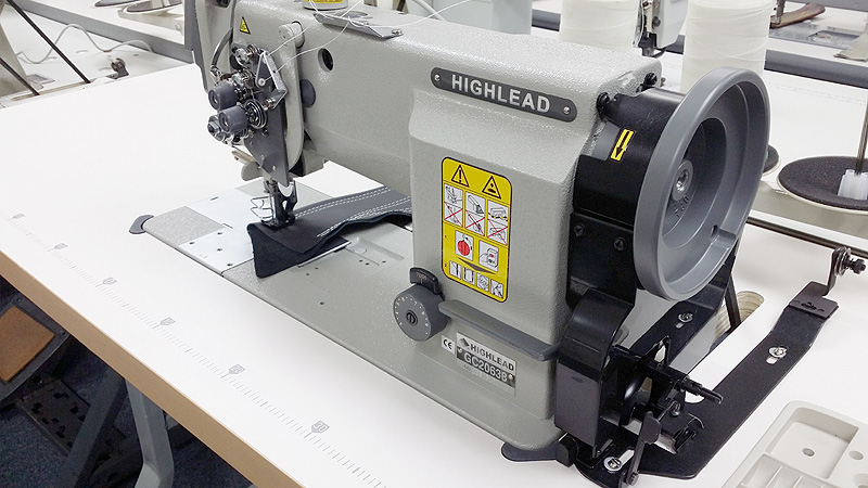 HIGHLEAD GC20638 Split Bar Double Needle Walking Foot Sewing Machine