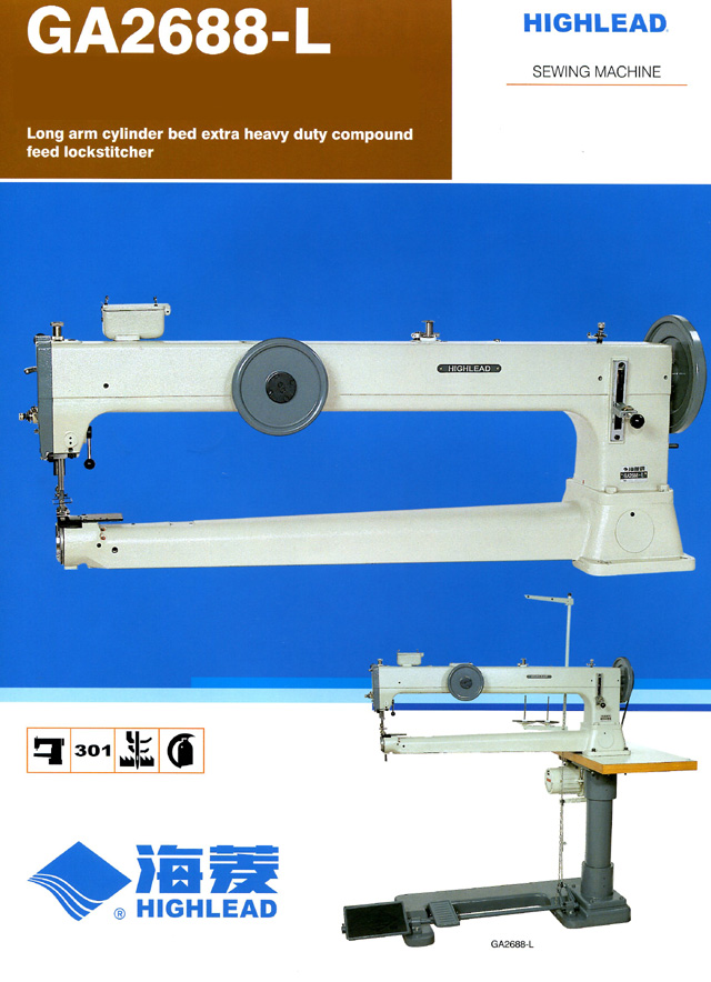 HIGHLEAD GA2688-L Cylinder Bed Long Arm Sewing Machine