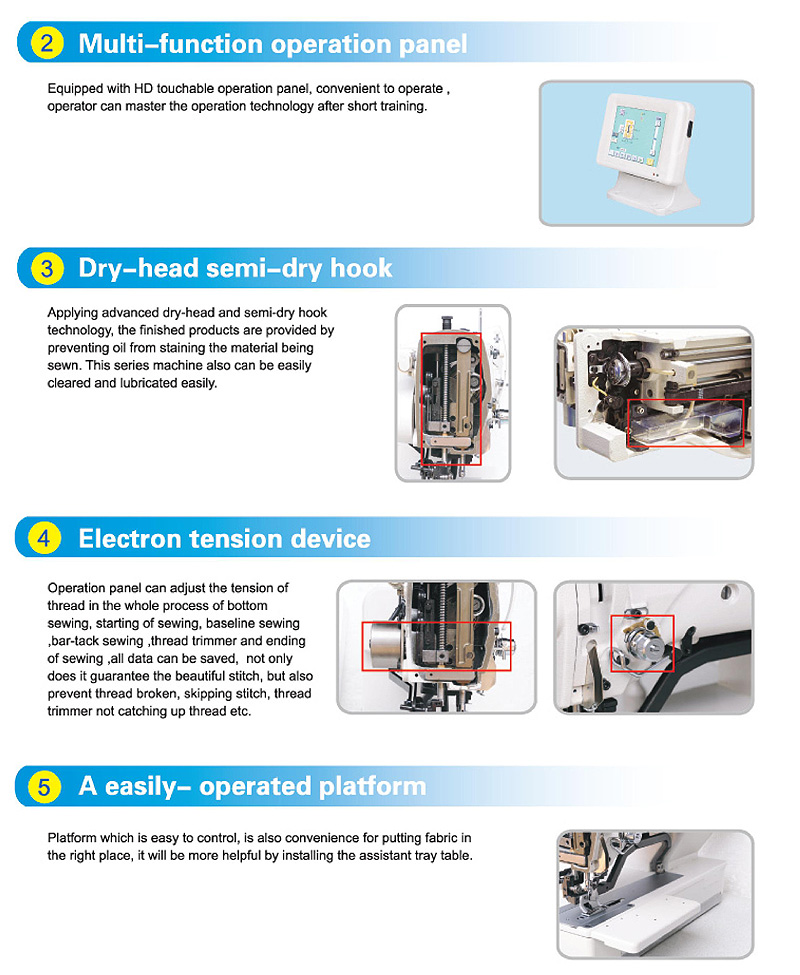 JACK JK-T1790 Electronic Button Hole Sewing Machine
