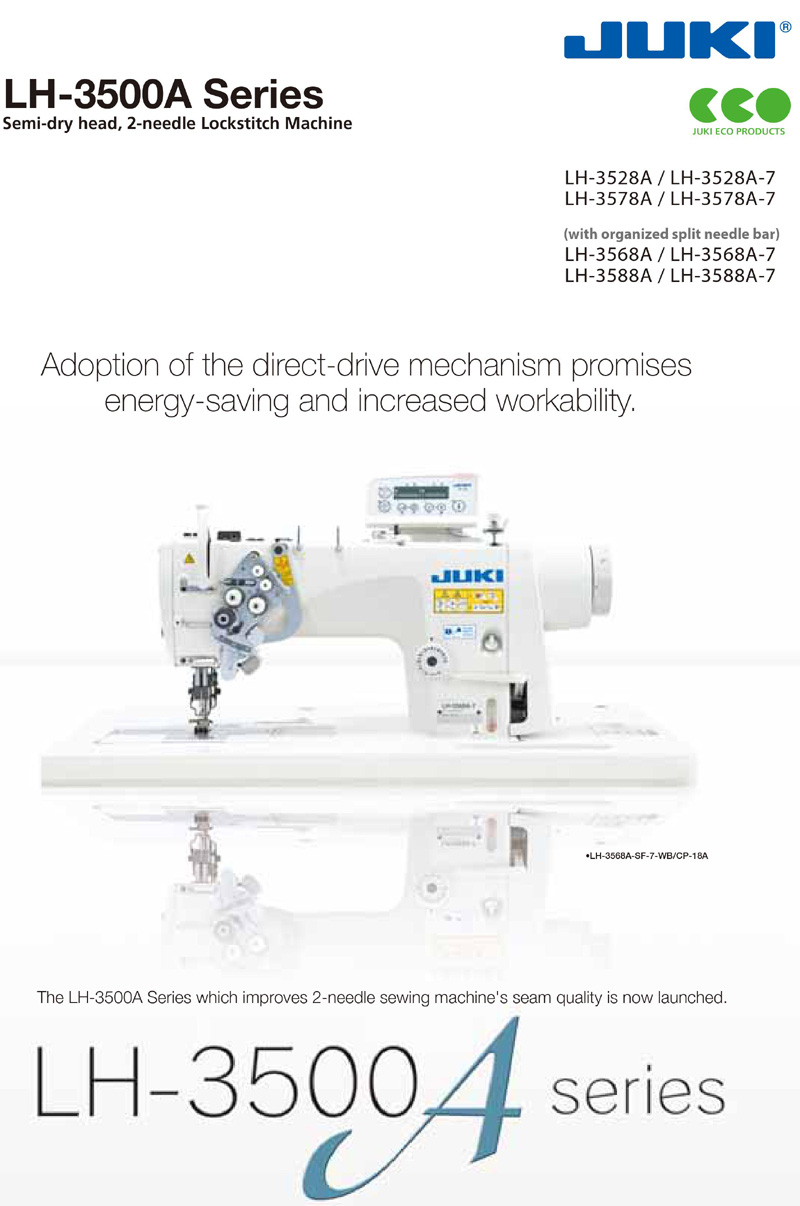 JUKI LH-3500 Double Needle Lockstitch Machine Series