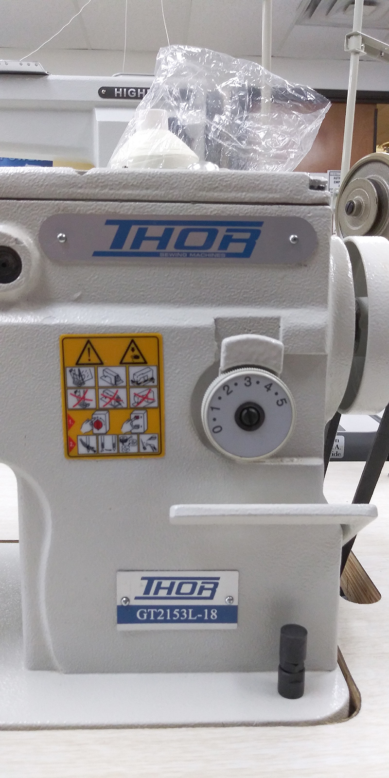 THOR GT-2153L-18 Long Arm ZIG ZAG Walking Foot Machine