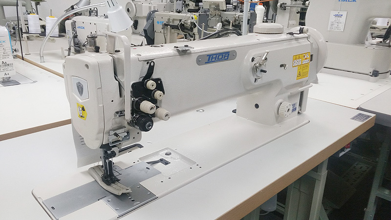 THOR GC-1560L-18 Long Arm Double Needle Walking Foot Sewing Machine