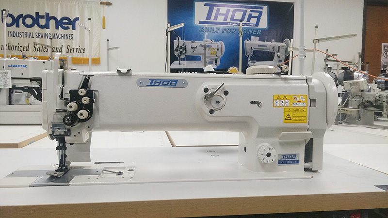 THOR GC-1560L-18 Long Arm Double Needle Walking Foot Machine