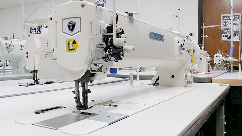 THOR GC 1560L-25 Long Arm Double Needle Walking Foot Sewing Machine